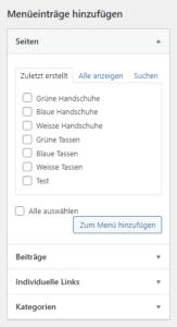 Wordpress Menü erstellen - Schritt für Schritt Anleitung6