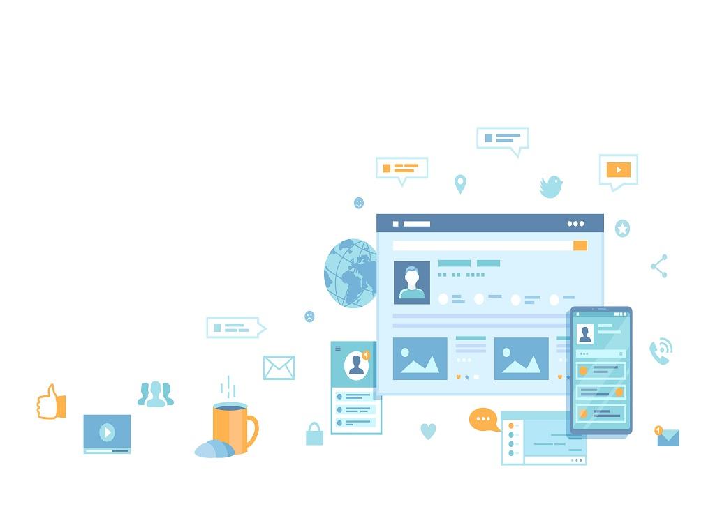 Social,Media,Network,,Online,Internet,Communication.,Website,Page,Social,Interface.