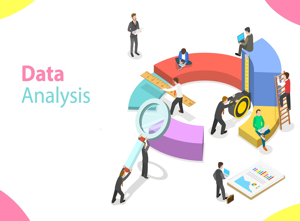 Flat,Isometric,Vector,Concept,Business,Statistics,And,Analytics,,Audit,Report,