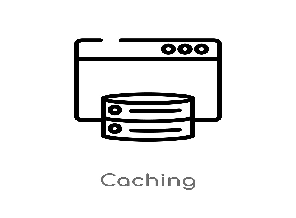 Caching,Vector,Line,Icon.,Simple,Element,Illustration.,Caching,Outline,Icon