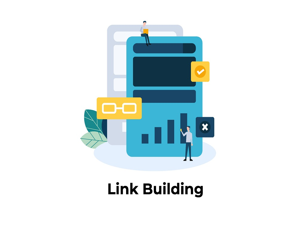 Link,Building.,Backlink.,Seo,Concept,Illustration,Concept,For,Web,Landing