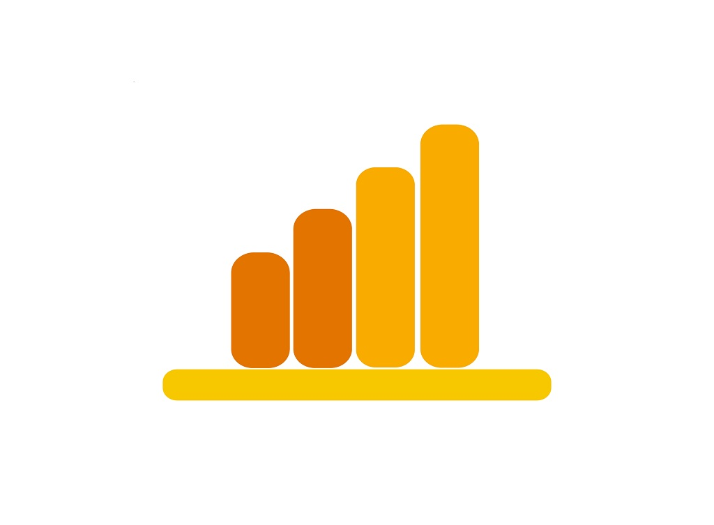 Analytics,Sign,In,Yellow,And,Orange,Colors.,Symbol,Of,Growth