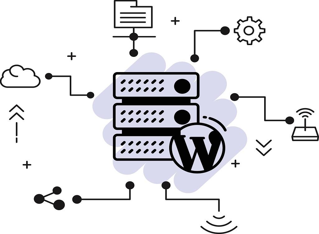 Cms,Hosting,Concept,,Wordpress,Blog,Optimized,Server,Vector,Icon,Design,