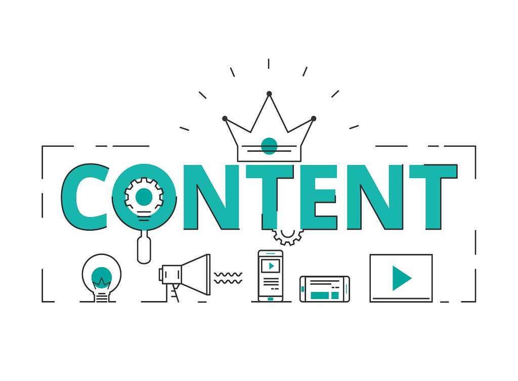 Flat,Line,Design,Word,Content,Concept,Of,Content,Digital,Marketing