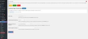 Duplicate Page Einstellungen