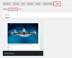 Plugin WordPress Umfrage Theme ändern