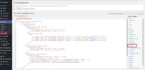 Wordpress Footer bearbeiten über footer.php