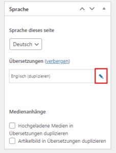 duplizierte Unterseite übersetzen